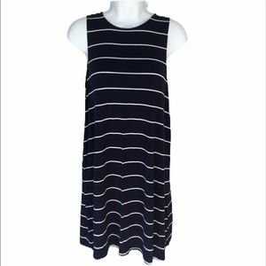 Forever21 navy and white striped dress